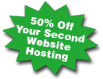 50% off second website
